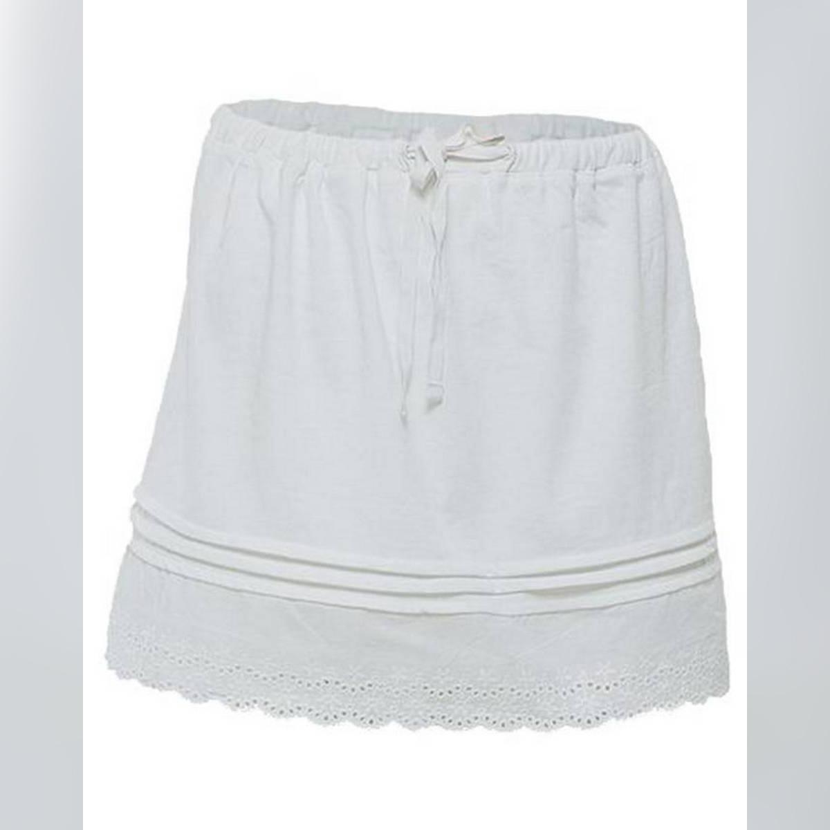 White Cotton Skirt For Women
