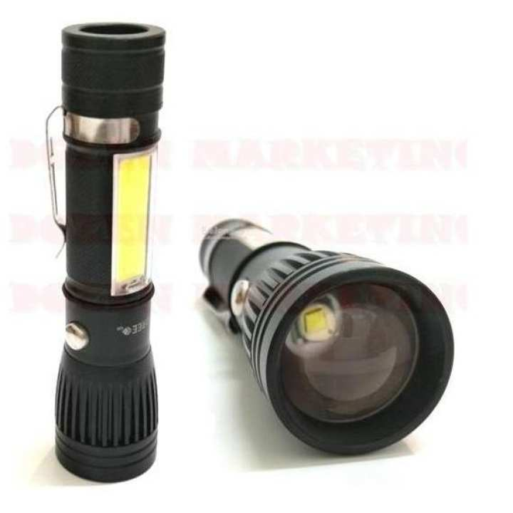 Electric Torch USB Rechargeable Flashlight CREE LED Zoom