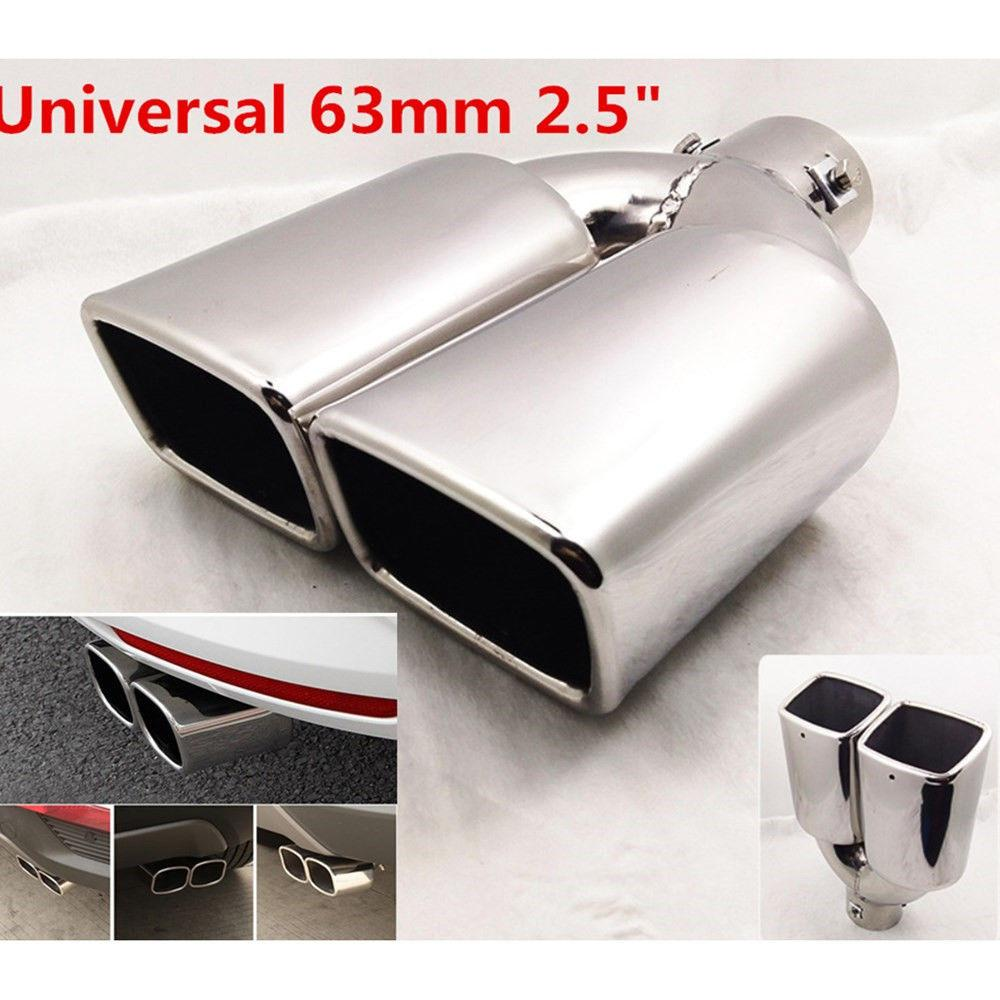 "Auto Parts 63mm 2.5/"" Inlet Universal Exhaust Pipe Rear End Tail Silencer Cover"