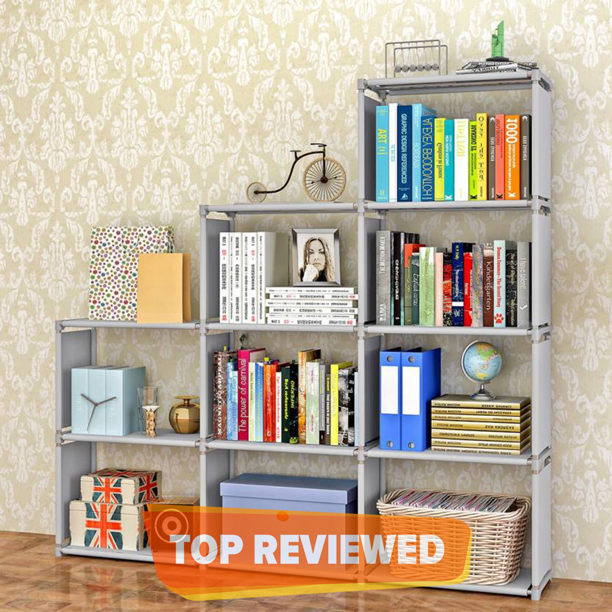 2X6 Layers Double row books rack shelfs for storage of books, Toys, Medicine, clothes etc. multipurpose