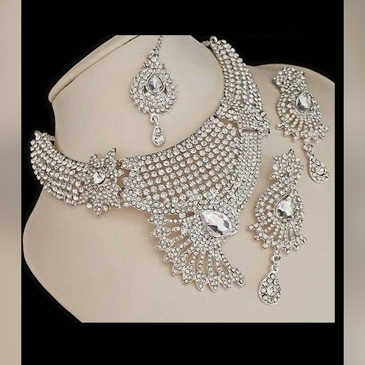Peacock Style Silver Lead Jewelry Set for Women