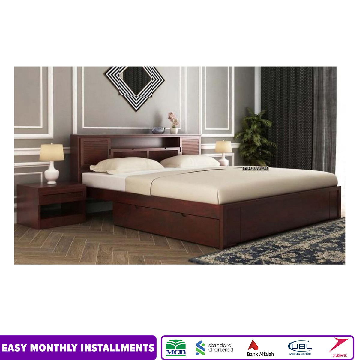 Ferguson Bed With Storage King Size Without Mattress