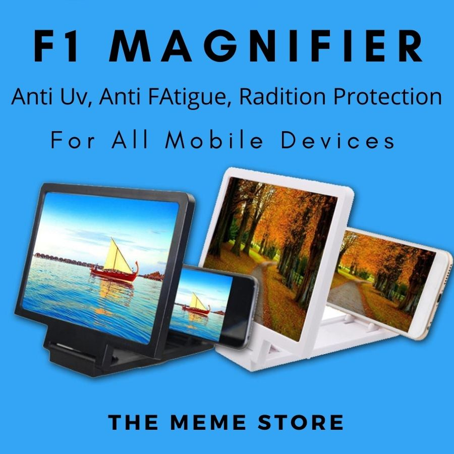 Latest F1 Screen Magnifier ,  3D Enlarged Screen Mobile Phone , Magnifying Glass For Mobile - Black - White