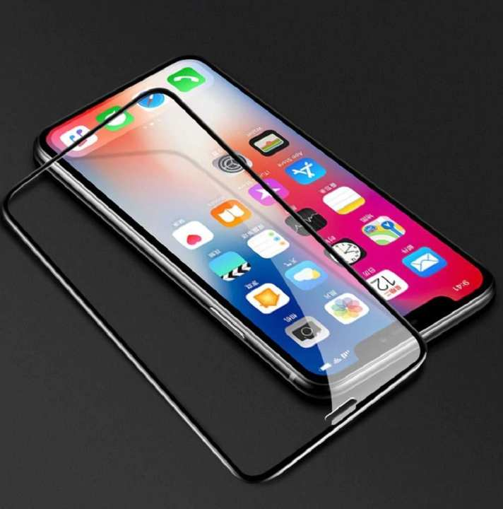 5D Tempered Glass Full Glue Full Coverage For IPhone XS Max  - Black
