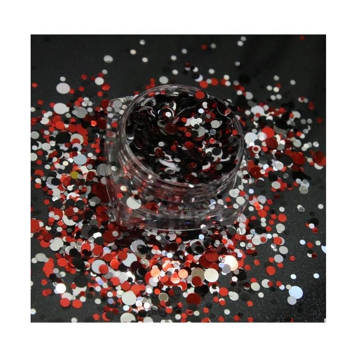 3g Red,Sliver,Black Glitter Pot For Nails