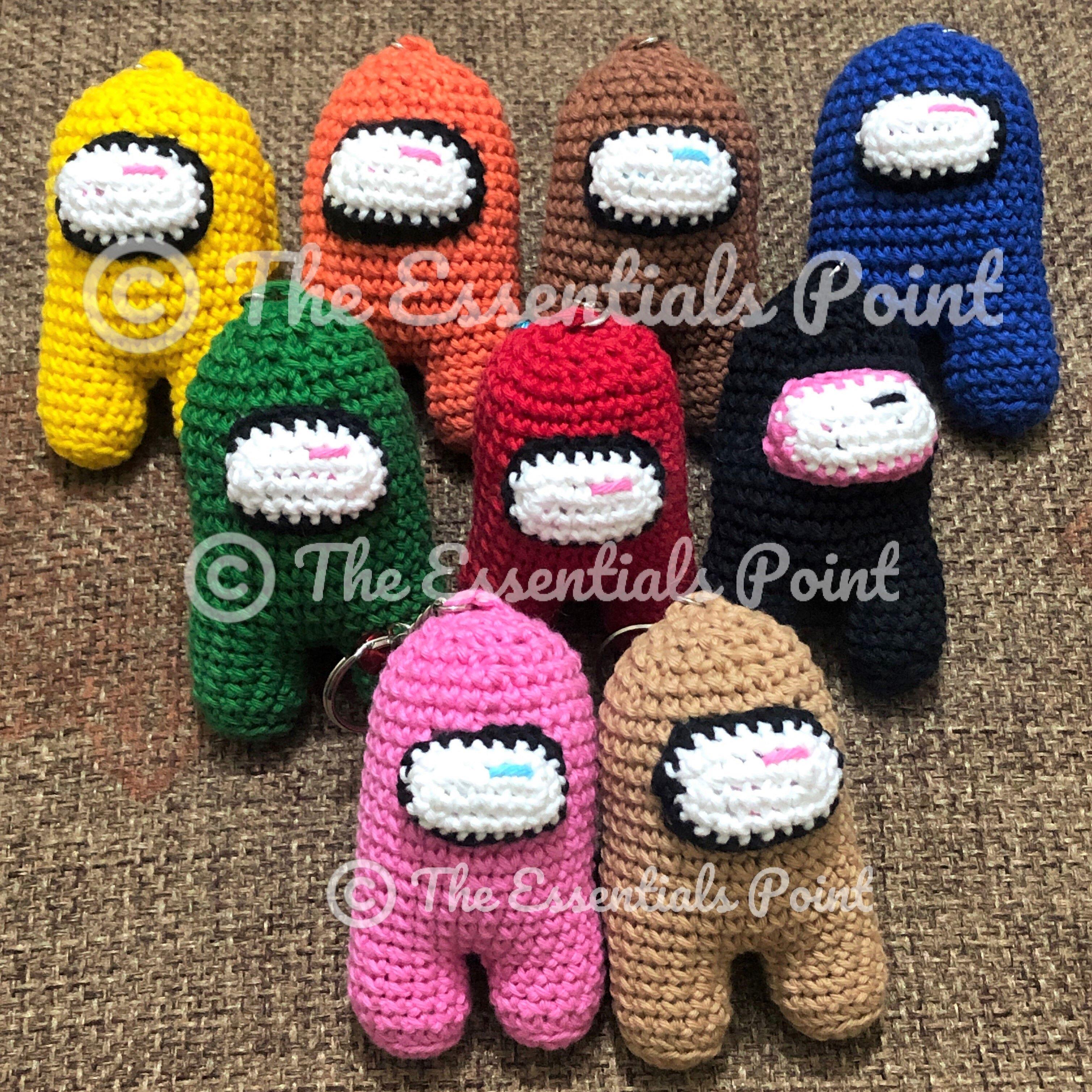 Among Us / Amongus - action figure handmade / handwoven / amigurumi crochet keychain /key chain - bag hanging accessories for kids - boys and girls