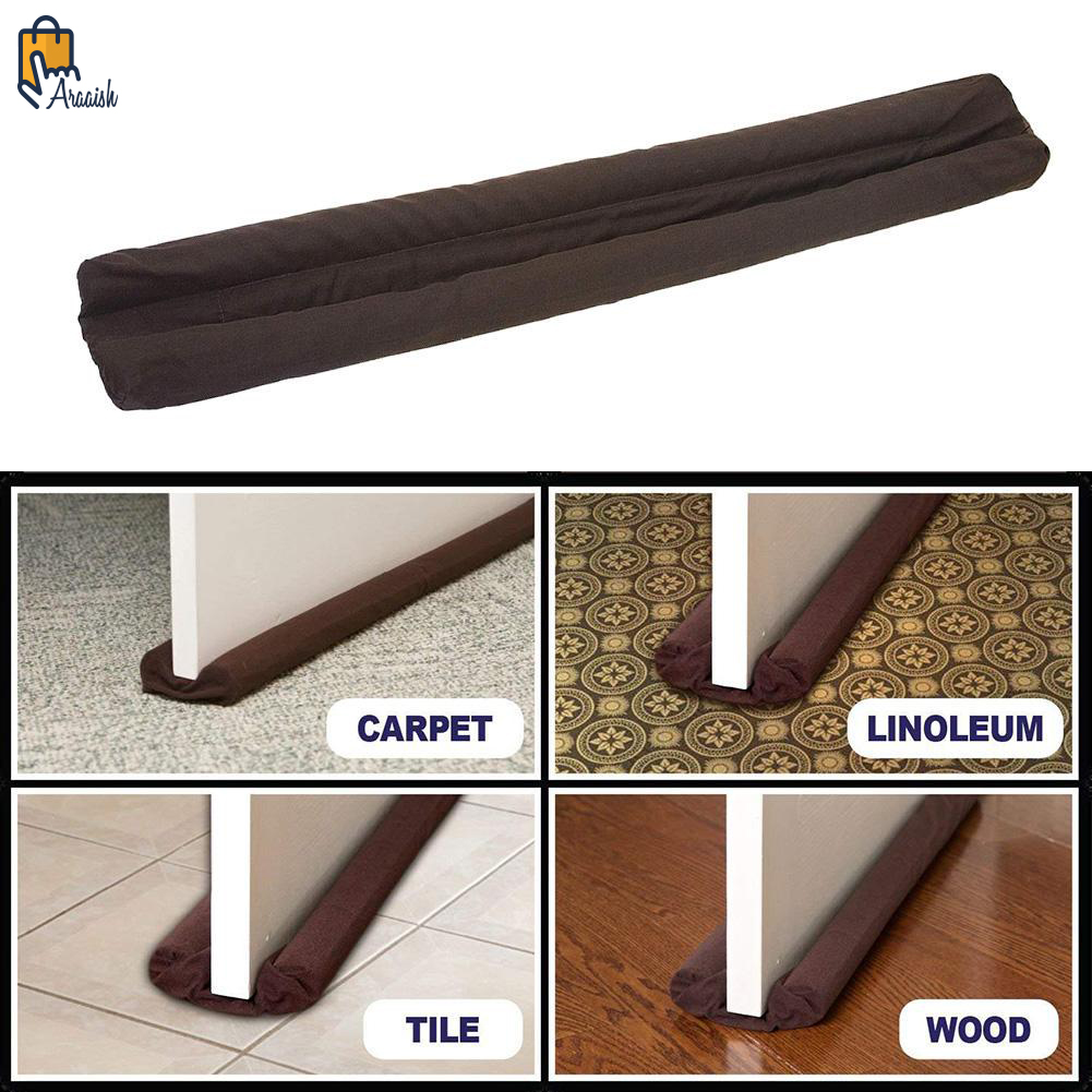 Door Draft & Dust & Air Stopper (Insect Protector) (36 inches - 40 inches) Please select the required size before order - Brown