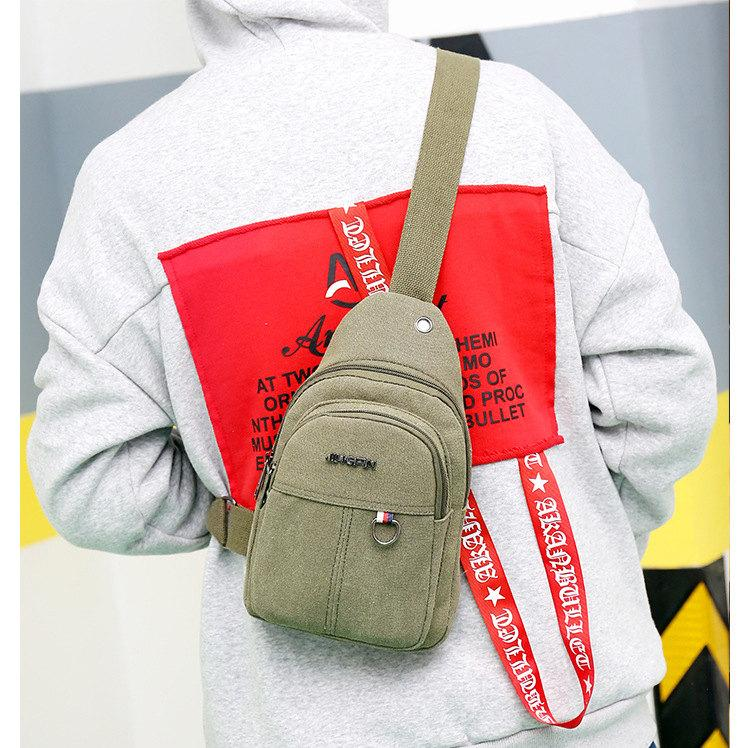 New Canvas Chest Spring Summer Multifunctional Crossbody Bag Korean Version  Waterproof Chest Backpack Casual Bag  Buy Online at Best Prices in Pakistan  ... 6cc4590ed27e2