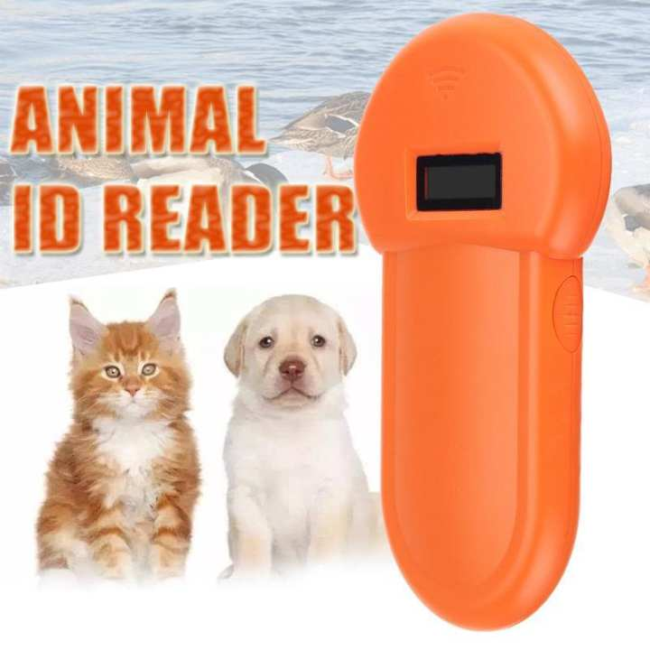 134.2Khz Animal ID Reader Pet Microchip Recognition Ear Tag Scanner Portable