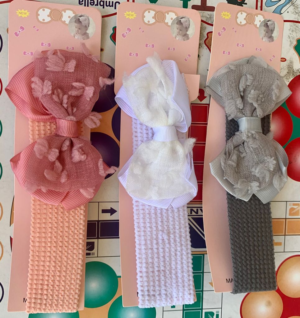 3 Pieces of Headband for Newborn Baby/Toddlers Soft Bows Elastic Hair Band for Baby Girls Solid Color Toddler Kids Turban Baby Hair Accessories