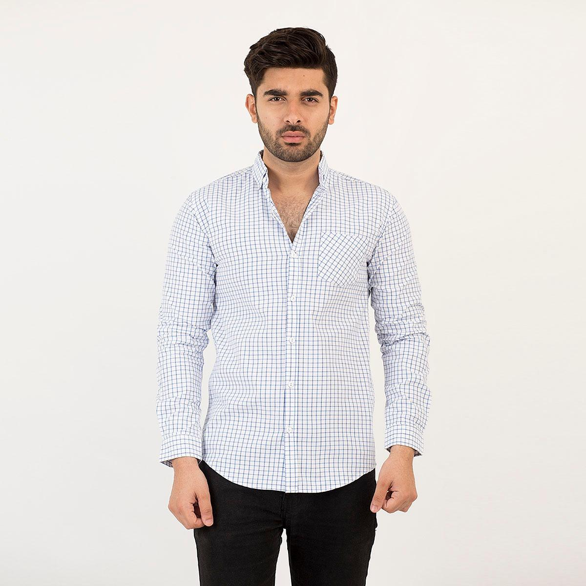 49171922 WOLF Casual Slim Fit Cotton Long Sleeve Shirt For Men Fashion - 90