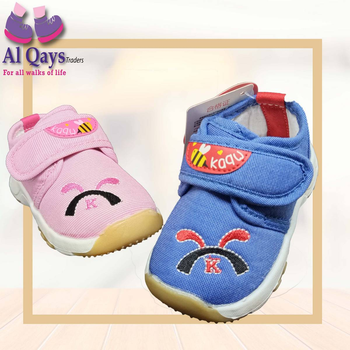 Premium Quality Unisex Toddler shoes (baby and baba) for both baby girl and baby boy shoes - age 6 to 2 years child shoes - pink and blue color