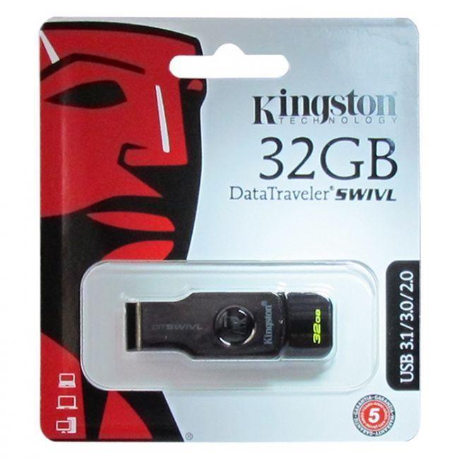 32gb Datatraveler Swivl Usb Flash Memory Stick Drive , 6-months Warranty