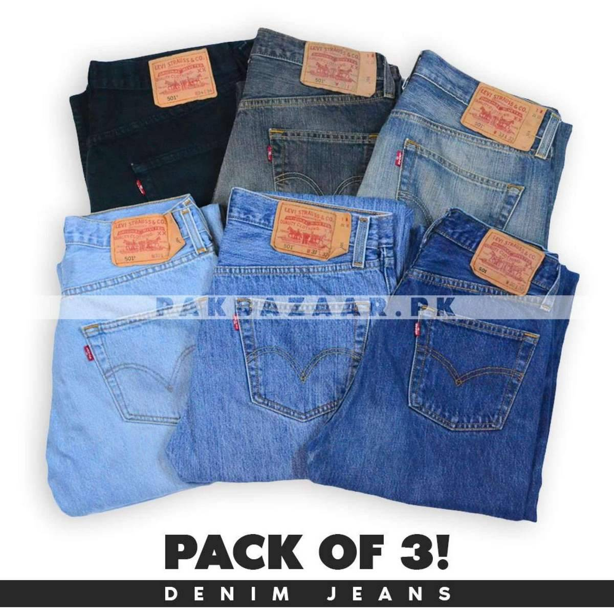 Pack of 3 Denim Jeans By AW Jeans Exporters