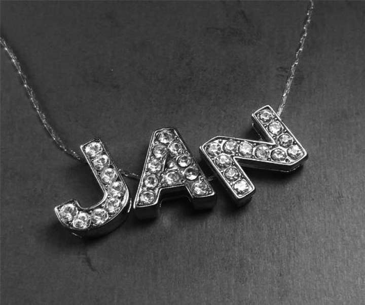 Silver Stainless Your Name Customized Alphabet Locket - Best Gift - Birthday Present - Name Locket with Chain