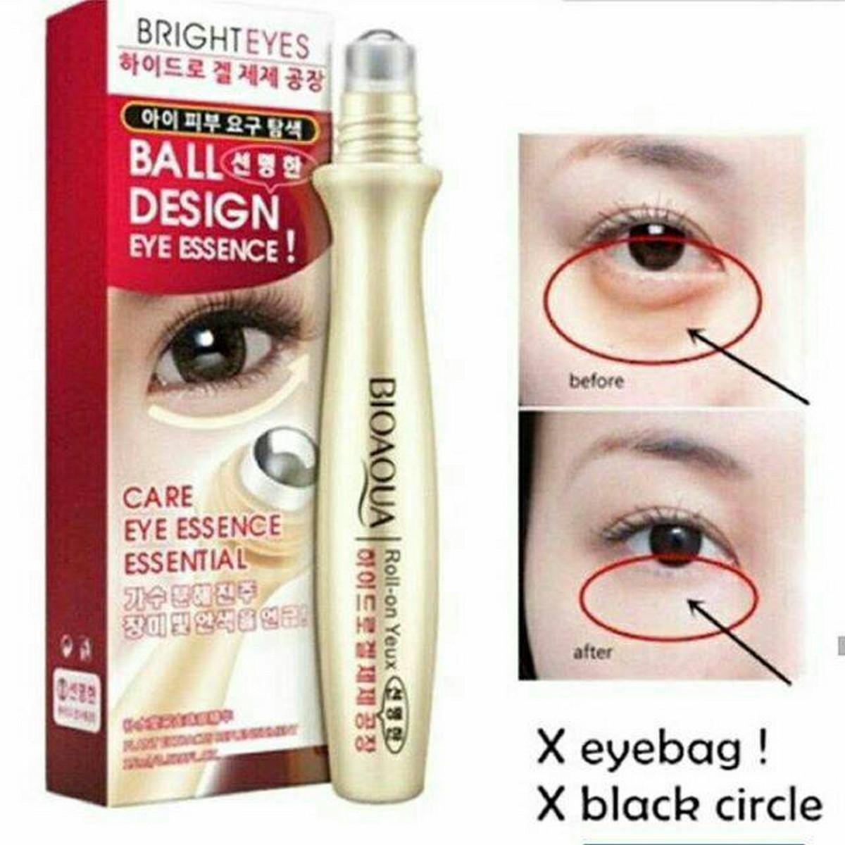 Bio Aqua 100% Original Anti-Wrinkle Puffiness Eye Bag Removal Roll-On Eye Ball For Dark Circle Skin Care 15ml- BA