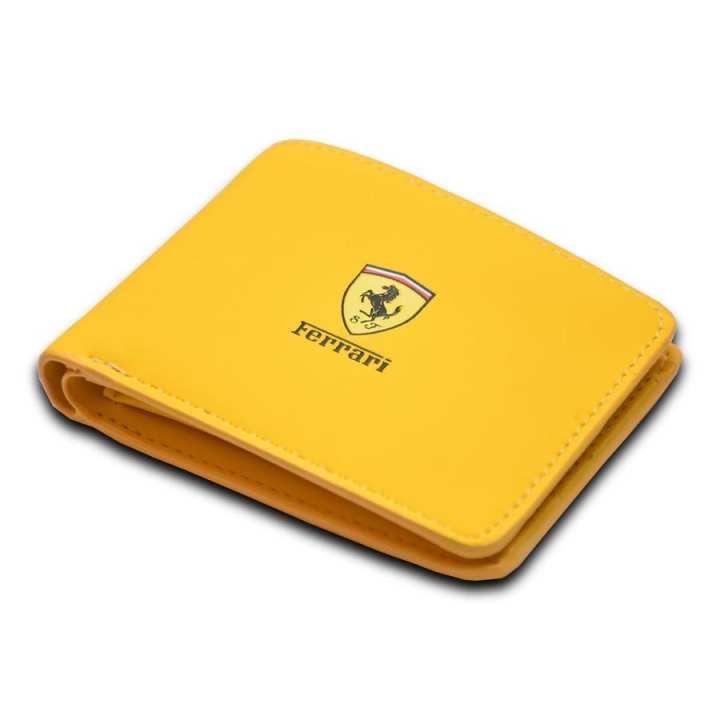 Ferrari Wallet For Men - Yellow