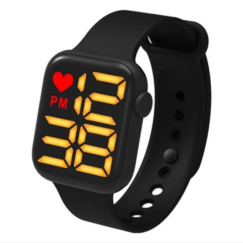 Good Quality A1 Band LED Digital Sports Watch Black & Blue Colours - Sold By Colour Crave