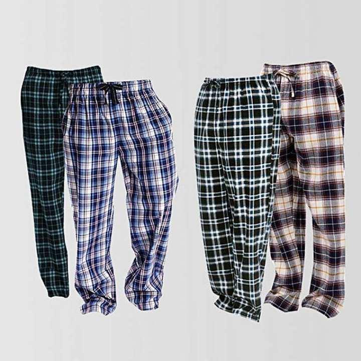 Checkered Pajamas Cotton mix For Men