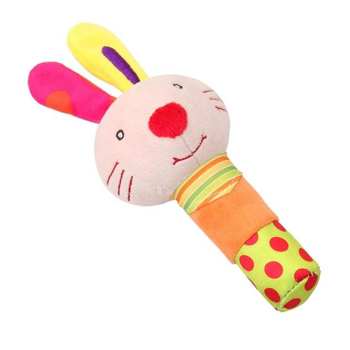 Rattle and squeaker Soft Baby Toy Cartoon Newborn Infant Plush toy