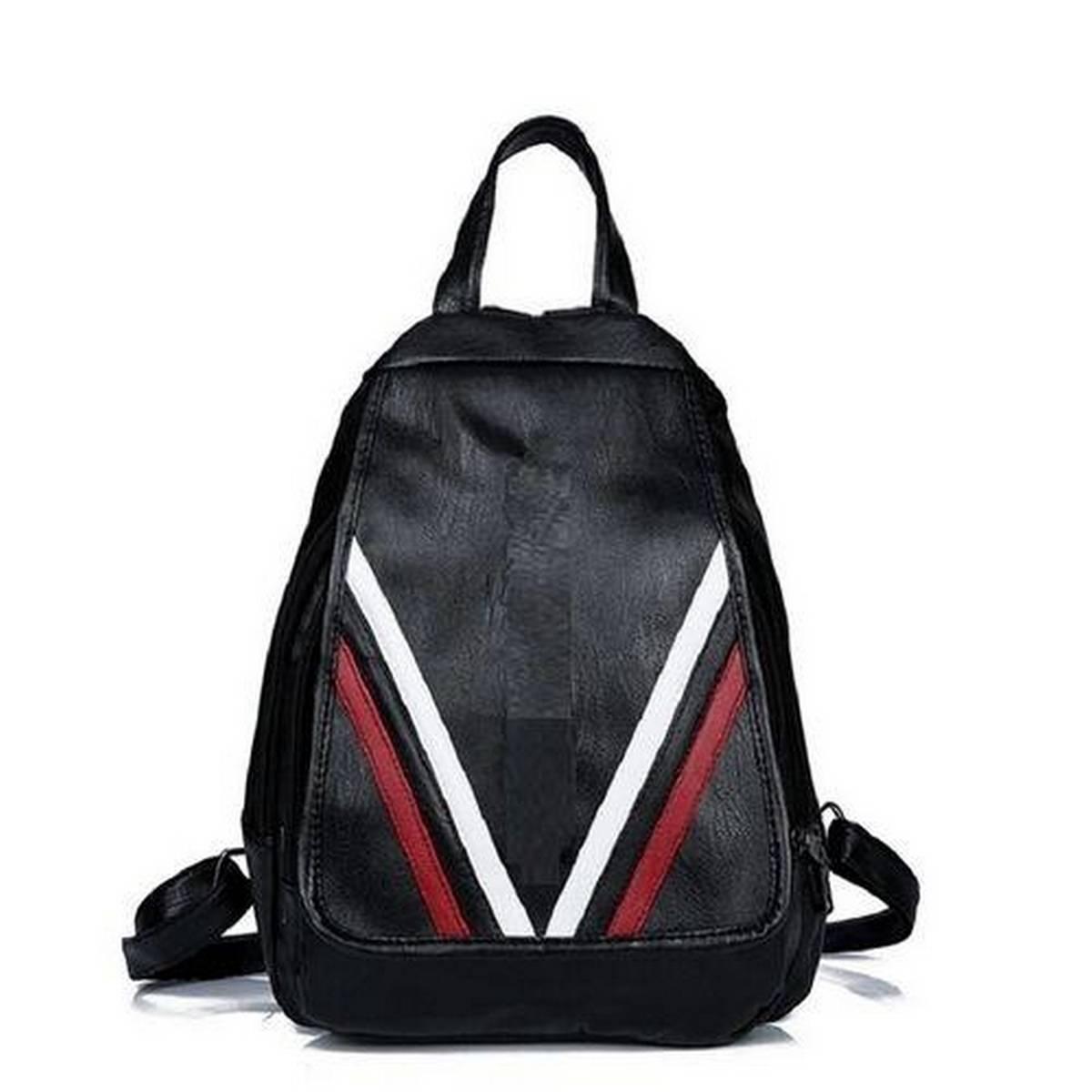 Black Artificial Leather Shoulder & Hand Carry Bag For Women