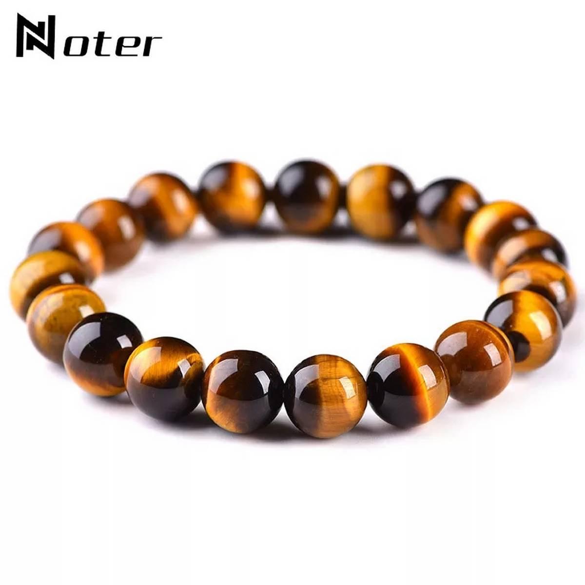New Tiger Eye Stone Buddha Bracelet Bangle Trendy Women Men Fine Jewelry Gifts