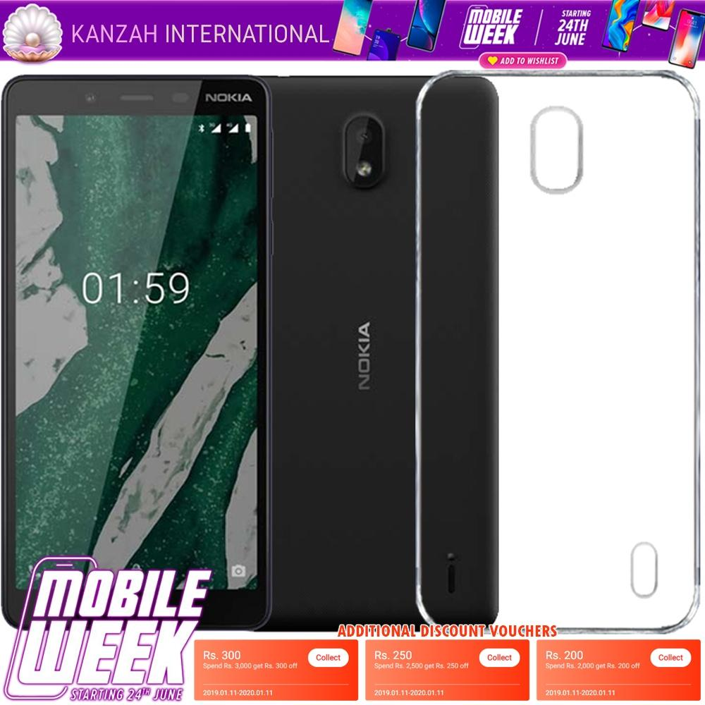 Nokia 1 Plus Jelly 1mm Silicon Transparent TPU Jelly - Kanzah International - Neutral