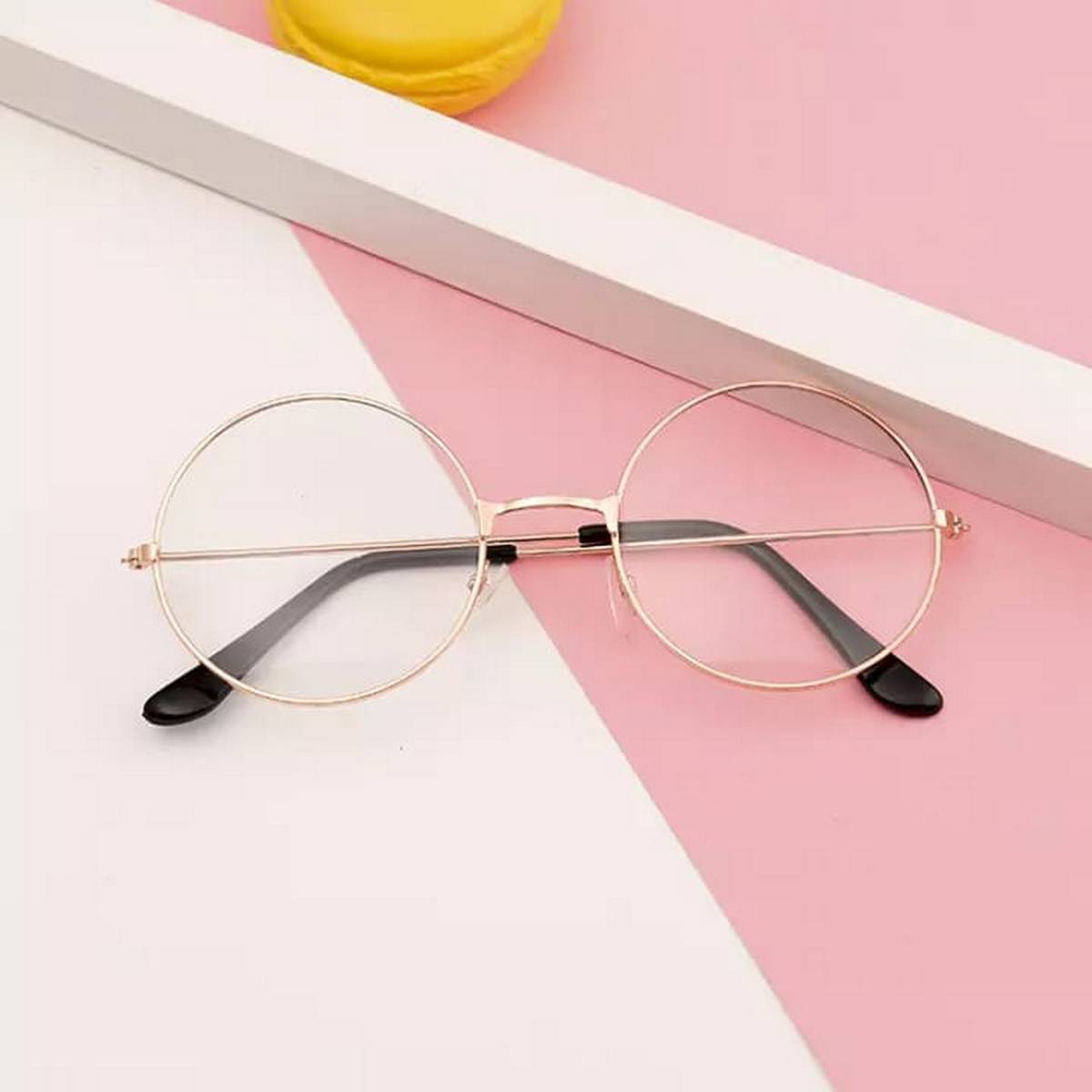 Golden Metal Frame Round Harry Potter Glasses for Girls - Classical Retro Style High Quality Glasses