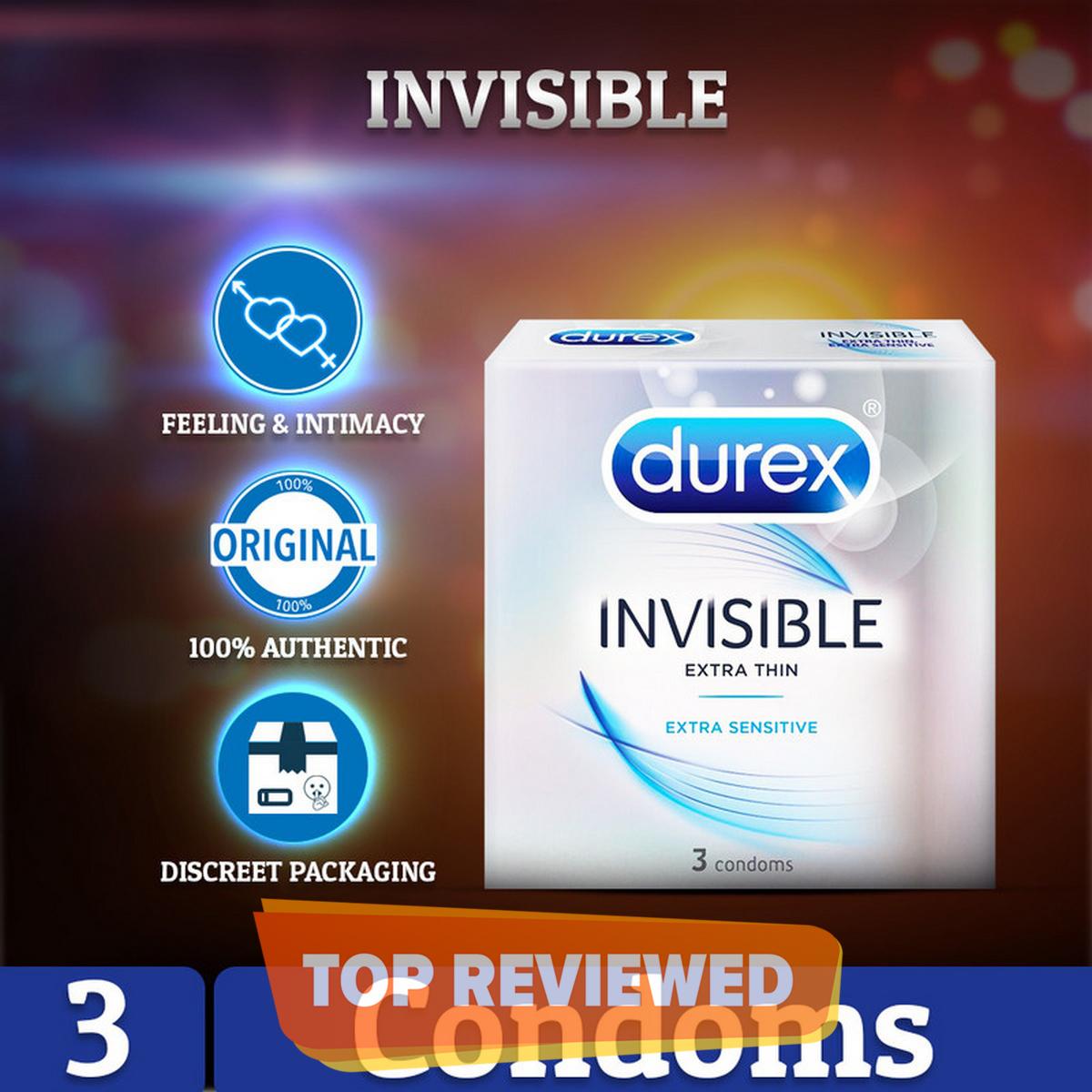 Durex Invisible Condoms Pack of 3s