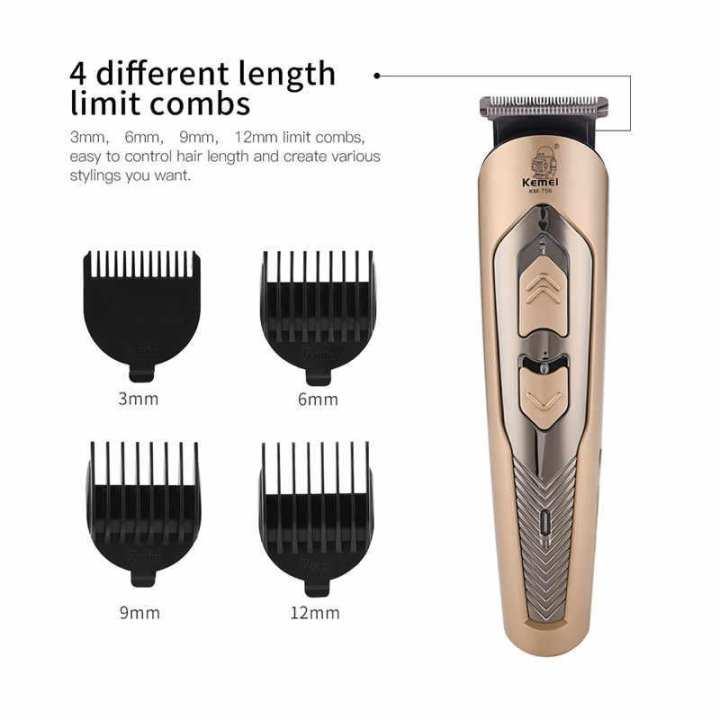 Best Quality Professional Rechargeable Hair Clipper Hair Trimmer Beard Trimmer Hair Cutter Shaving and Haircutting Machine for Home and Salon