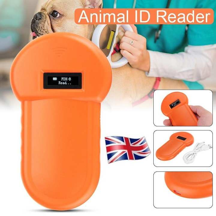 Portable 134.2Khz Animal ID Reader Pet Microchip Recognition Ear Tag Barcode Scanner