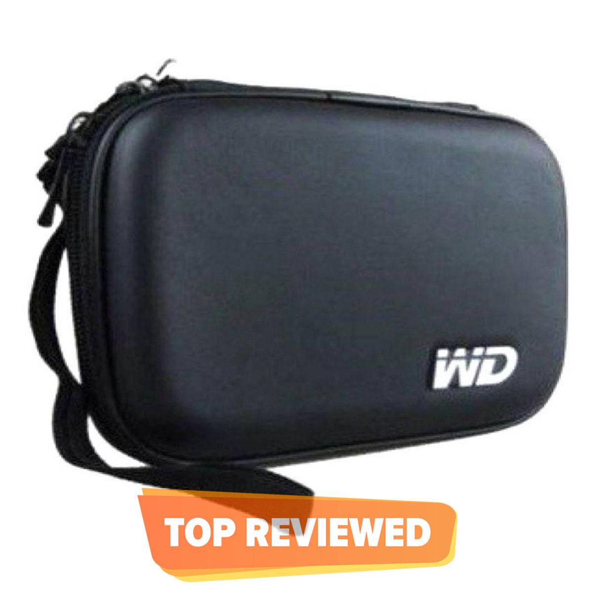 WD External Hard Disk Drive Pouch Case - 2.5 HDD Cover - Black
