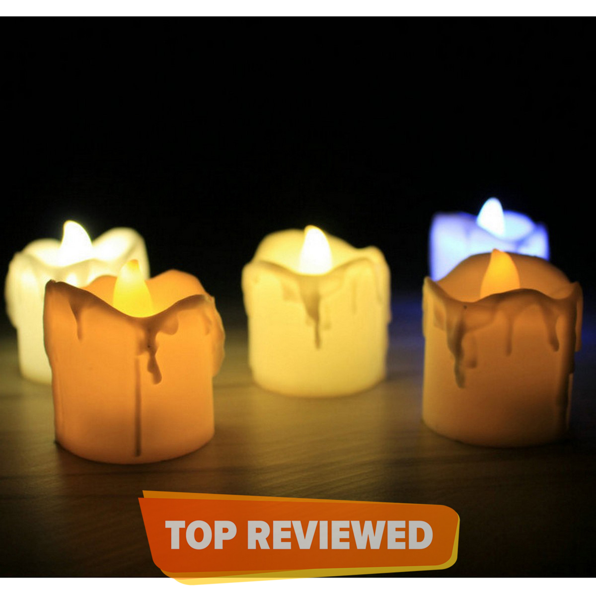 LED Tea Light flameless Candles LED Votive Candles Battery-Operating Flickering Candles Electric in Warm White and Wave