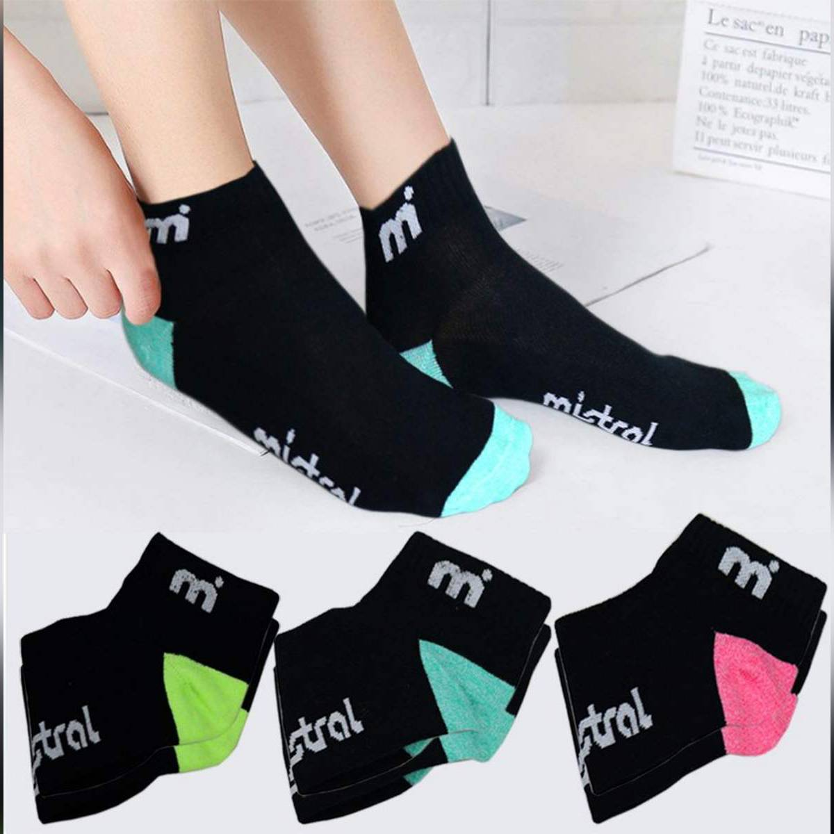 3 Pairs / Cotton Breathable Socks For Women
