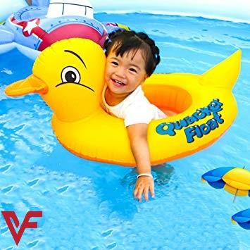 Duck Baby Floats Tube, Inflatable Duck Pool Float, Baby Floating Seat, Children Swim Ring, Kids Inflatable Floats, Yellow Duck Seat Boat for Toddler