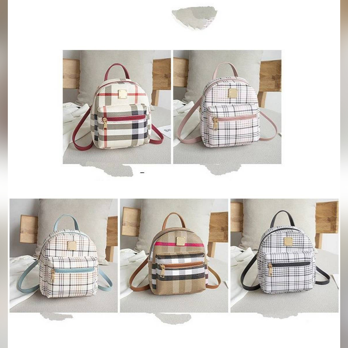 Pu Leather Material Mini Backpack for Girls