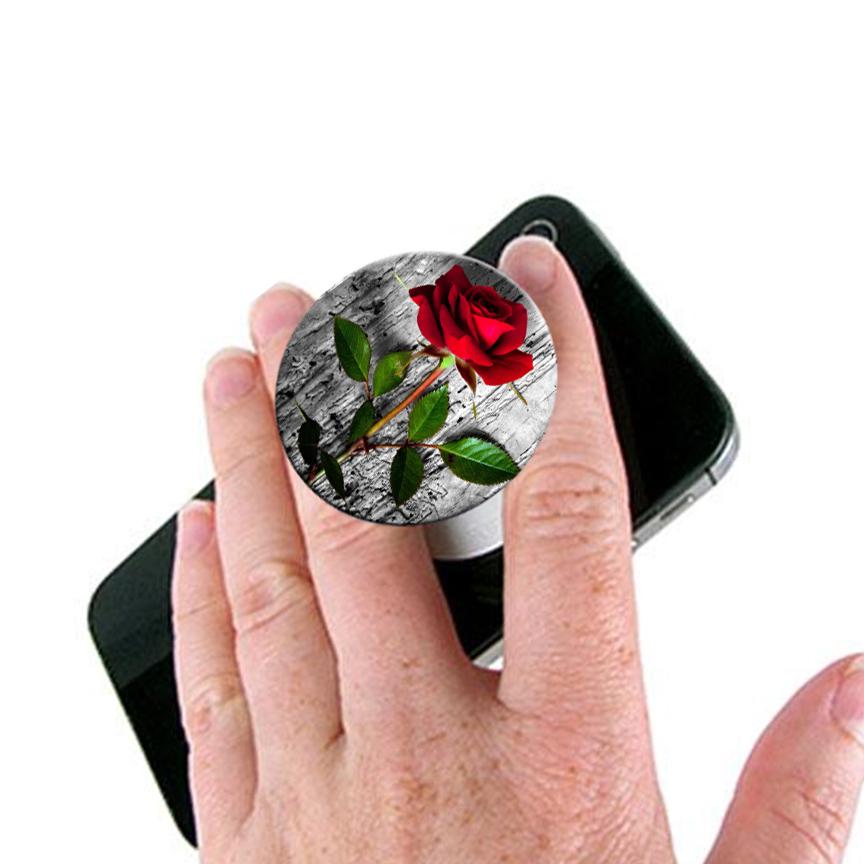 Rose Pop Socket Mobile Stand / Holder for Boys & Girls - Universal Pop Socket for Mobile Phone & Tablets & Cover