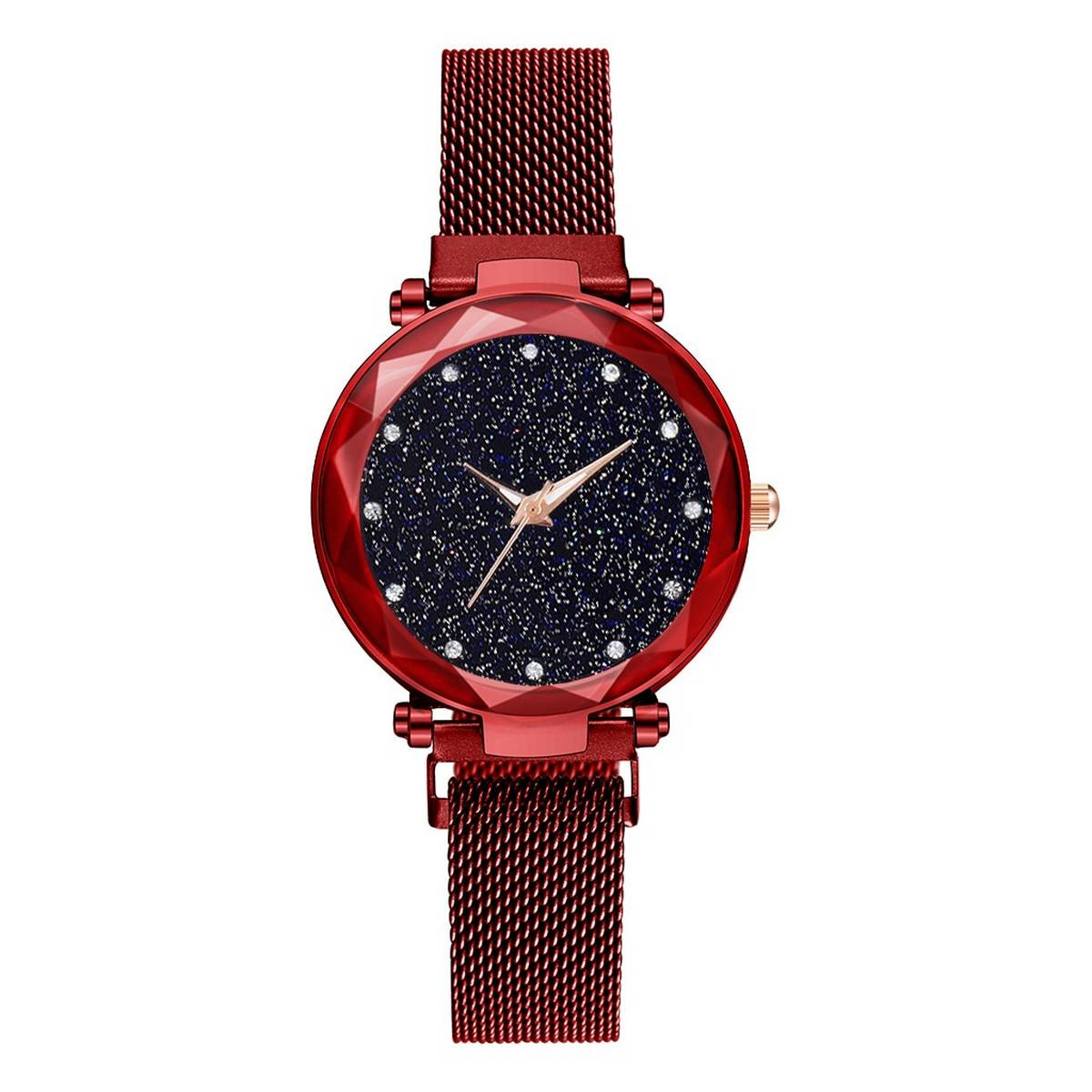 Luxury ladies watches trendy magnet watch for girls red and black color available
