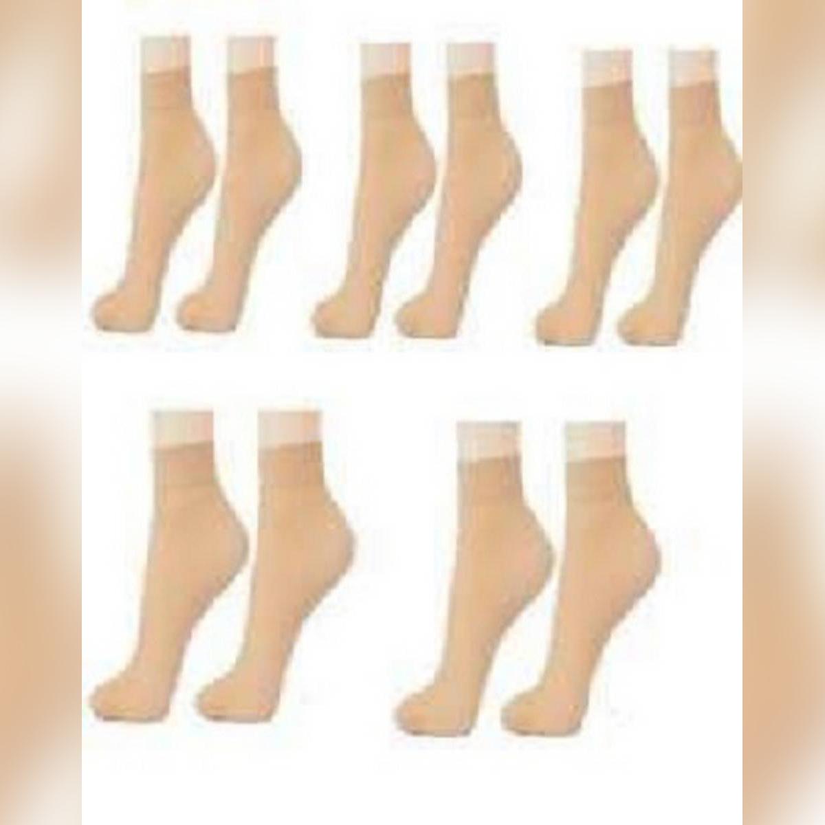 pack off 3 Nylon Skin Socks For Women