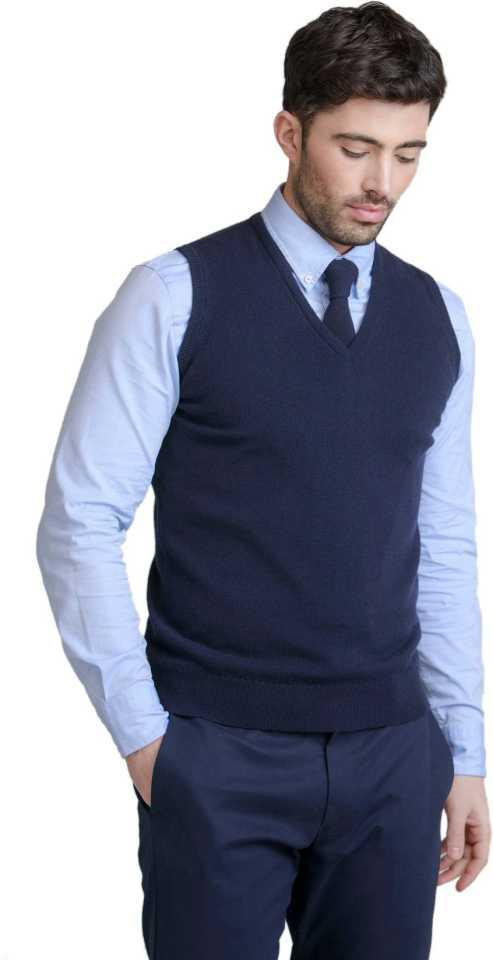 H Create Branded Export Quality Premium Rich 100% Finest Malaysian Cotton Sleeveless Navy Blue Formal V-Neck Sweater For Men, Hoodie For Men, Sweatshirt For Men