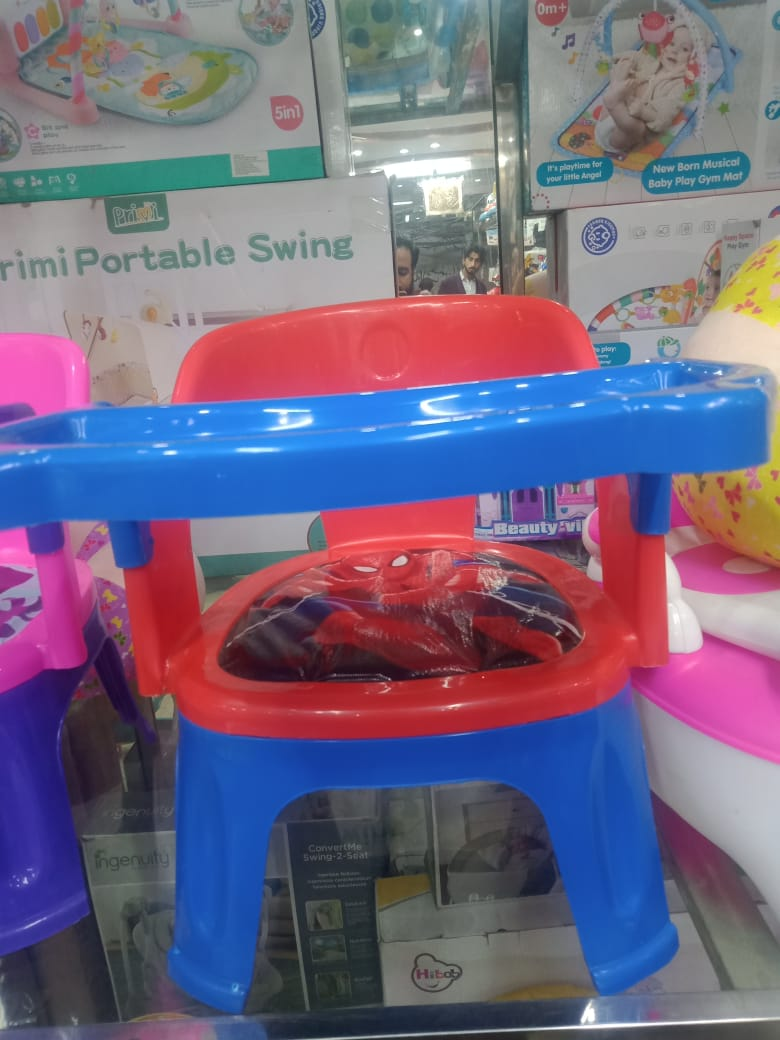 Kids plastic  chair with tray, baby dining chair with different characters, Baby  Moveable plastic chair, Baby chair, Portable, kids plastic chair with removeable tray