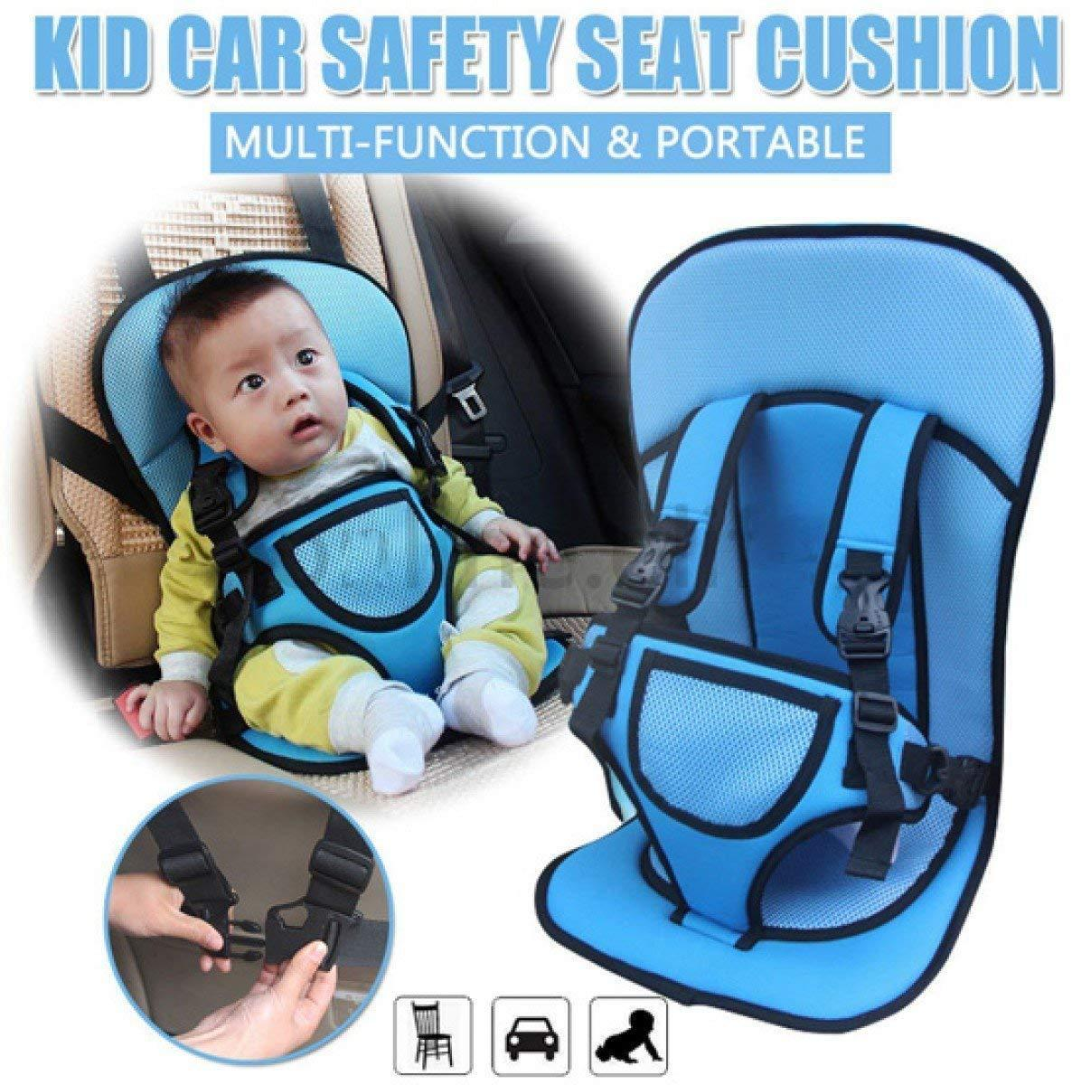 Adjustable Infant Baby Kids Car Cushion Seat With Safety Belt