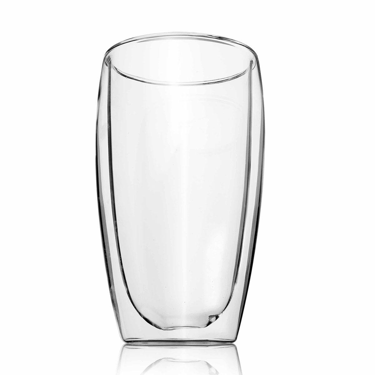 Heat-resistance High-borosilicate Glass Double Wall Glass Coffee Cup 450ml