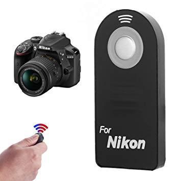 Nikon ML-L3 Wireless Infrared Shutter Remote Control for D3300, D3400,  D5500, D7100, D7200, D610, D750, Df, 1 V3, J5 & More Digital Camera