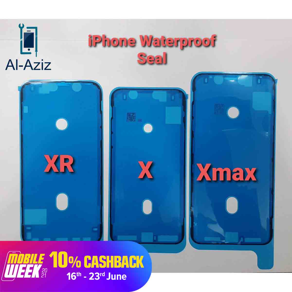 2pieces WaterProof Seal Adhesive Sticker For Apple iPhone 7G / 7Plus / 8G / 8Plus X / XS / XR / XS MAX / 11 / 11Pro / 11Pro Max