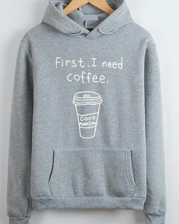 GREY COFFEE HOODIE FOR HER