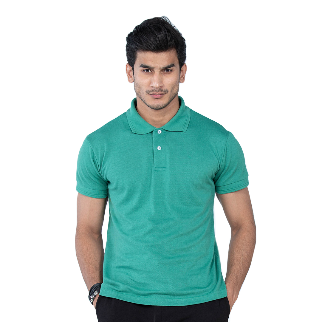 Select by  Basic Polo Shirt For Men - Dark Green