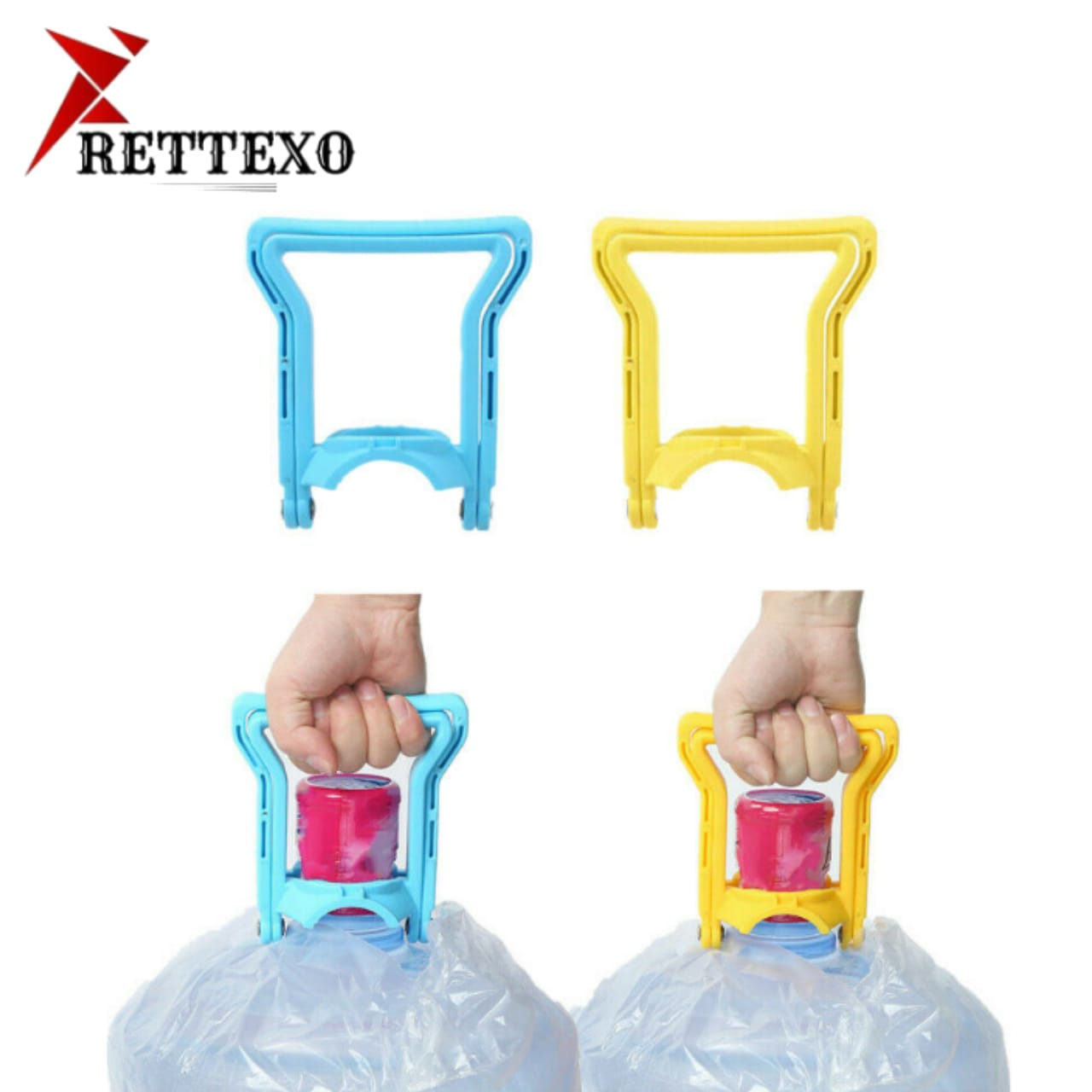 19 ltrs Water Bottle Handle Lifter - Easy Lifting Water Bottle Carrier - Water Bottle Handle - Double Handed Water Bottle Handle