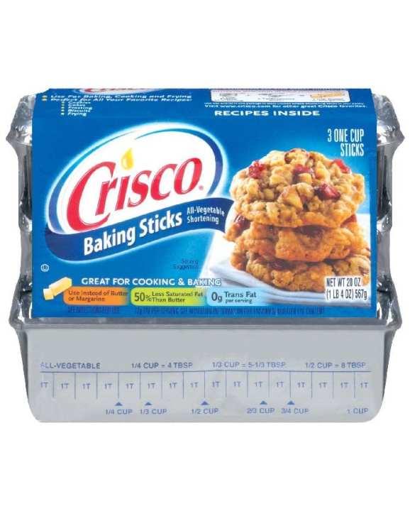 Crisco Shortening Sticks All Vegetable 567g