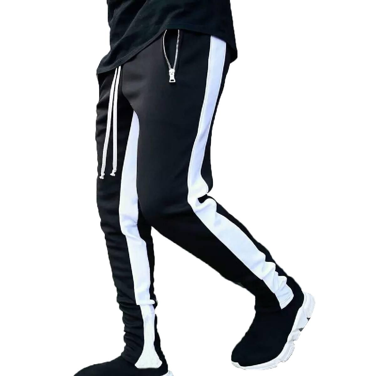 AYBEEZ- Interlock Contrast Panelling Trouser For Men